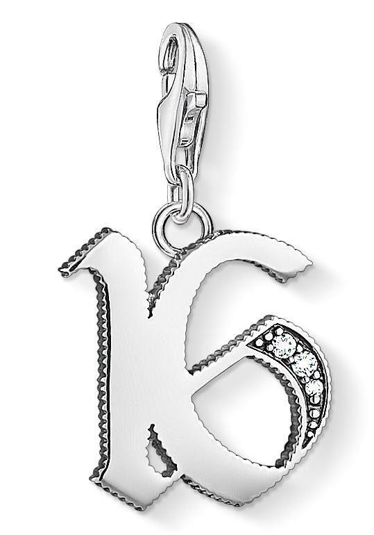 THOMAS SABO Charm-Einhänger »16, 1509-643-21« mit Zirkonia