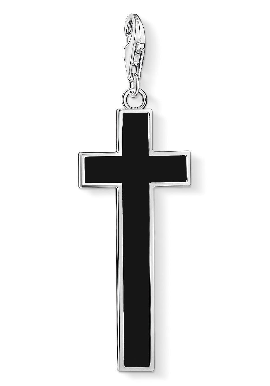 THOMAS SABO Charm-Einhänger »Schwarzes Kreuz, Y0020-024-11« mit Onyx