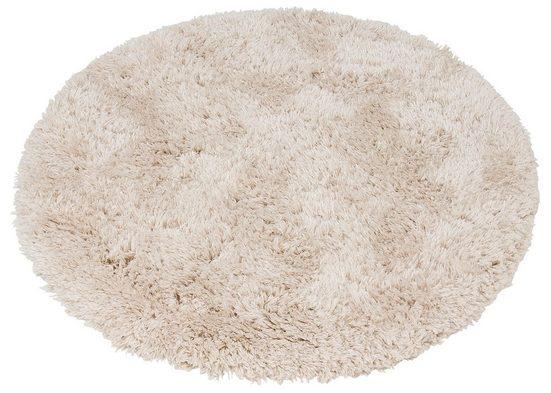 Hochflor-Teppich »Floki 861«, merinos, rund, Höhe 70 mm, Besonders weich durch Microfaser, Wohnzimmer