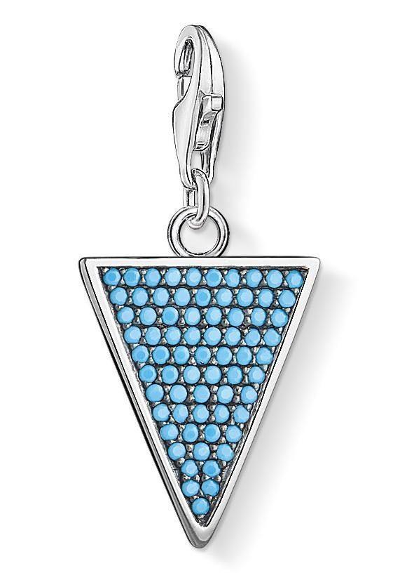 THOMAS SABO Charm-Einhänger »Dreieck Türkis, 1579-667-17« mit Glassteinen