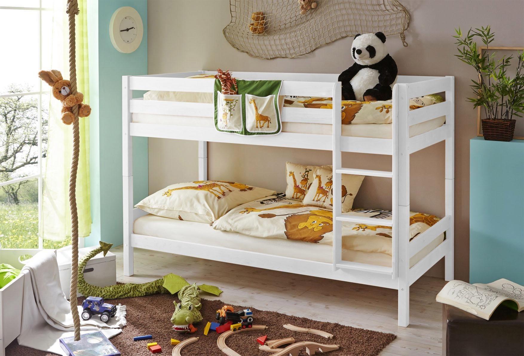 Ticaa Einzel-/Etagenbett »Lio«, Kiefer | Kinderzimmer > Kinderbetten > Etagenbetten | Kiefer | Ticaa