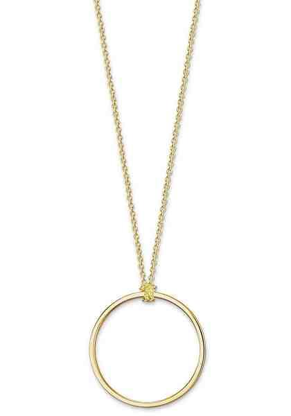 THOMAS SABO Kette mit Anhänger »Kreis gold, X0252-413-39«