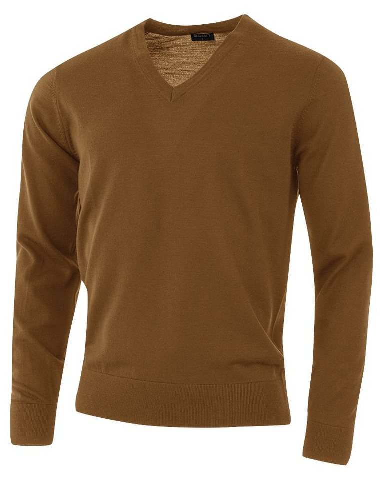 agon® V-Pullover mit Total-Easy-Care-Behandlung | Bekleidung > Pullover > V-Pullover | Braun | agon®