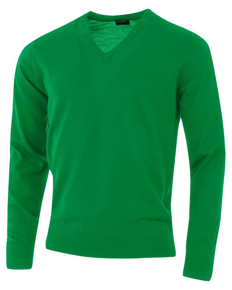 agon® V-Pullover mit Total-Easy-Care-Behandlung | Bekleidung > Pullover > V-Pullover | Grün | agon®