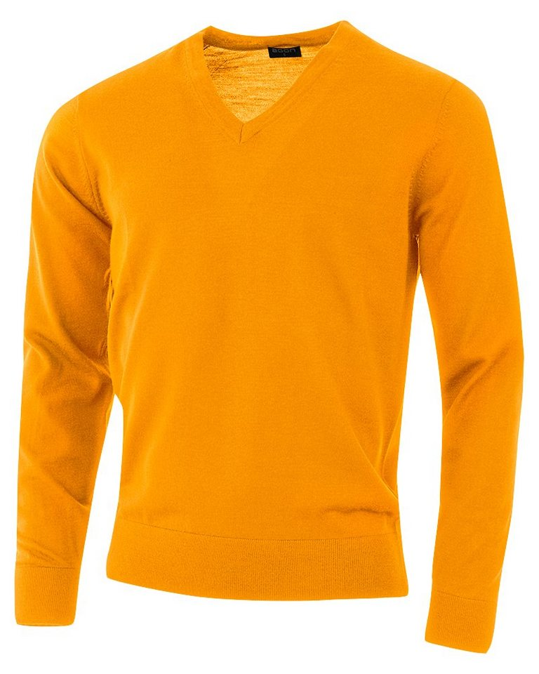 agon® V-Pullover mit Total-Easy-Care-Behandlung   Bekleidung > Pullover > V-Pullover   Orange   agon®