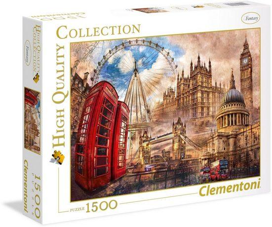 Clementoni® Puzzle »Altes London«, 1500 Teilig