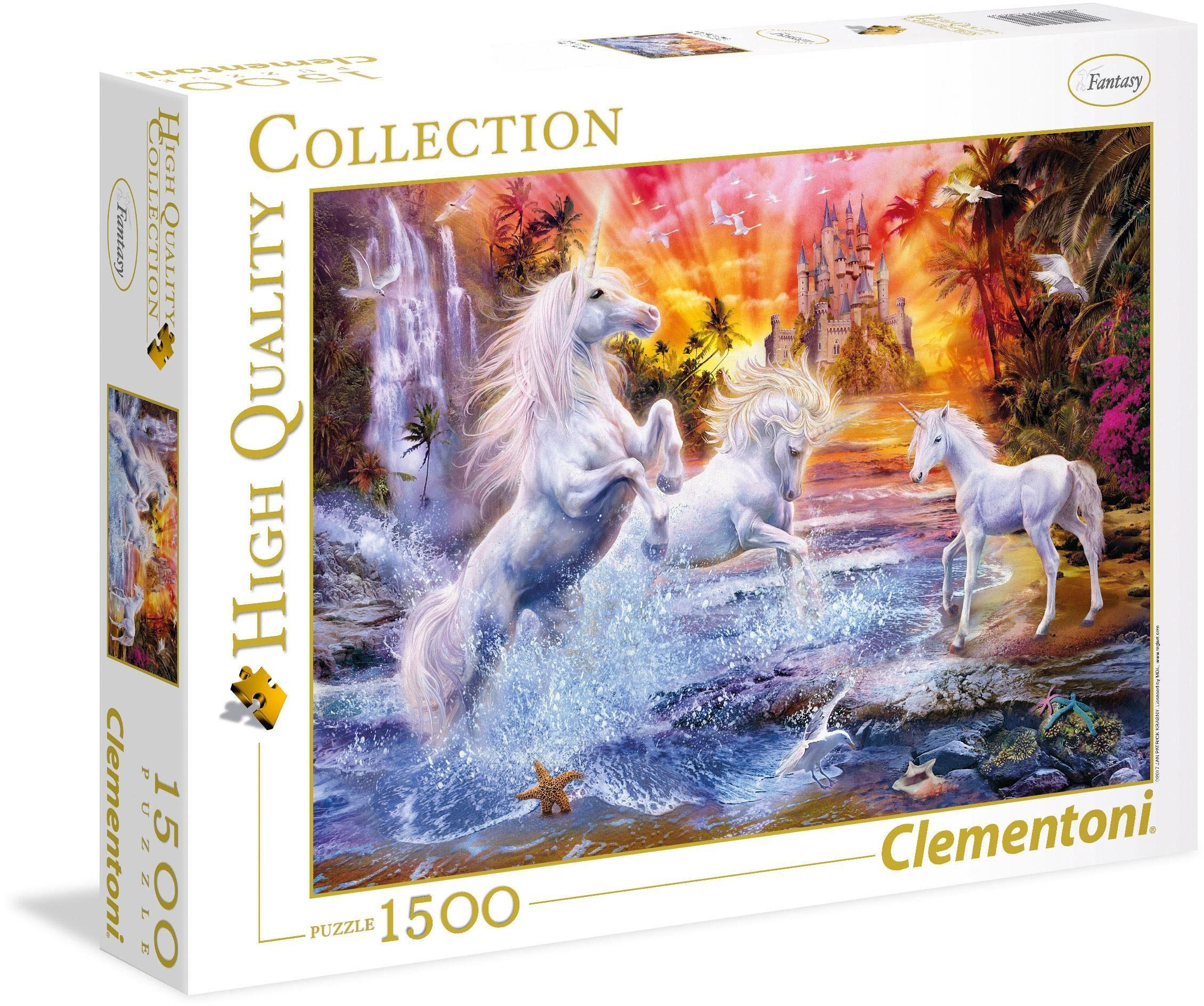 Clementoni® Puzzle »Wilde Einhörner«, 1500 Teilig