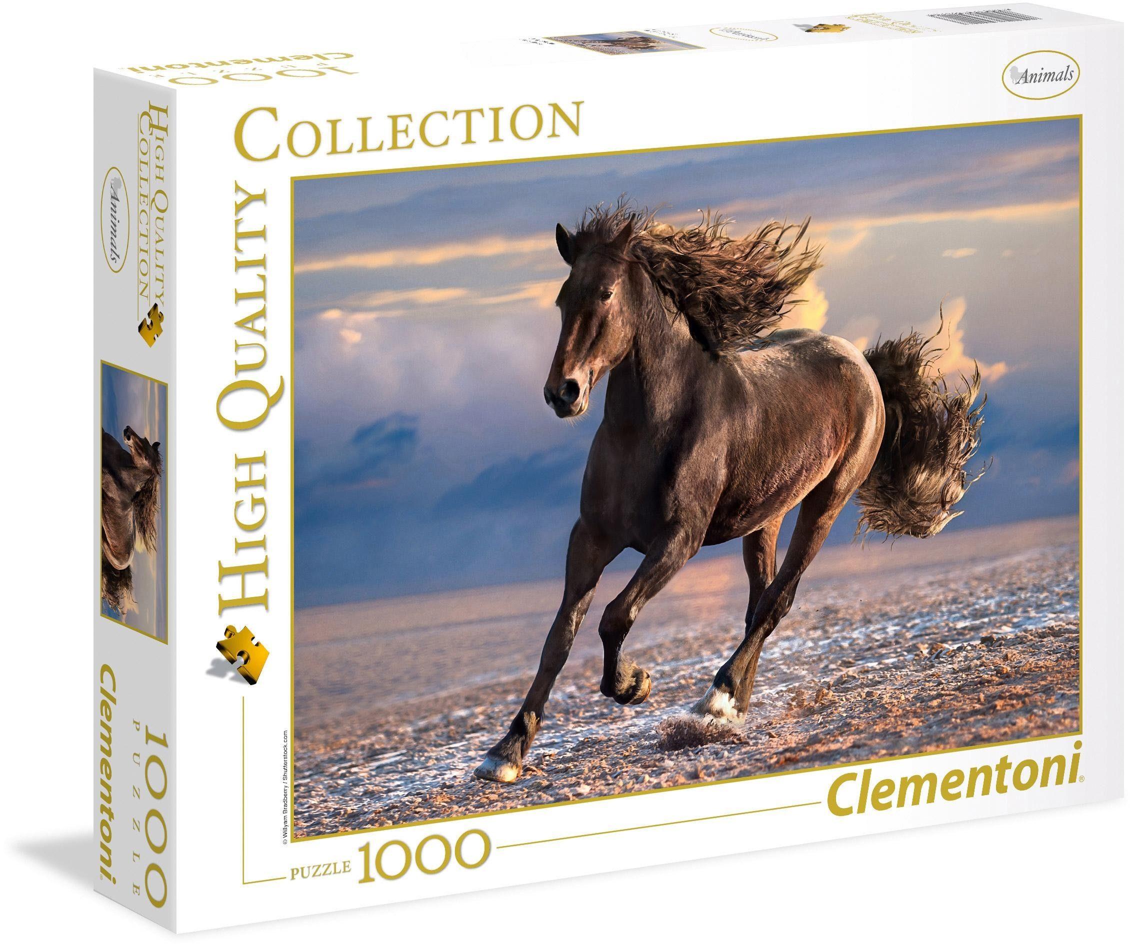 Clementoni® Puzzle »Wildpferd«, 1000 Teilig