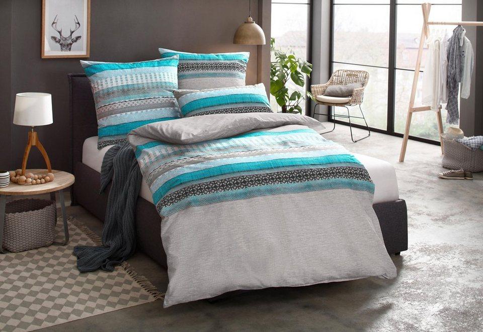 bettw sche marlie auro hometextile mit streifen online. Black Bedroom Furniture Sets. Home Design Ideas