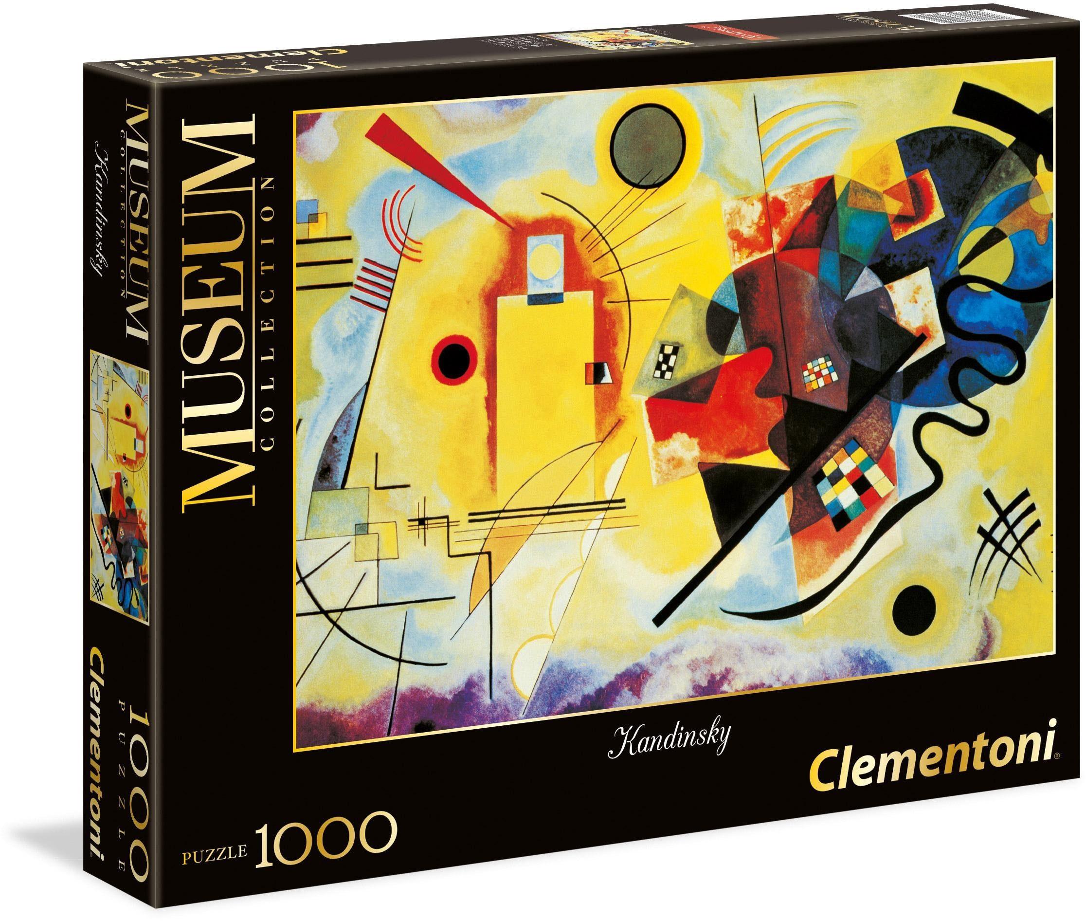 Clementoni Puzzle, 1000 Teile, »Kandinsky: Gelb-Rot-Blau«