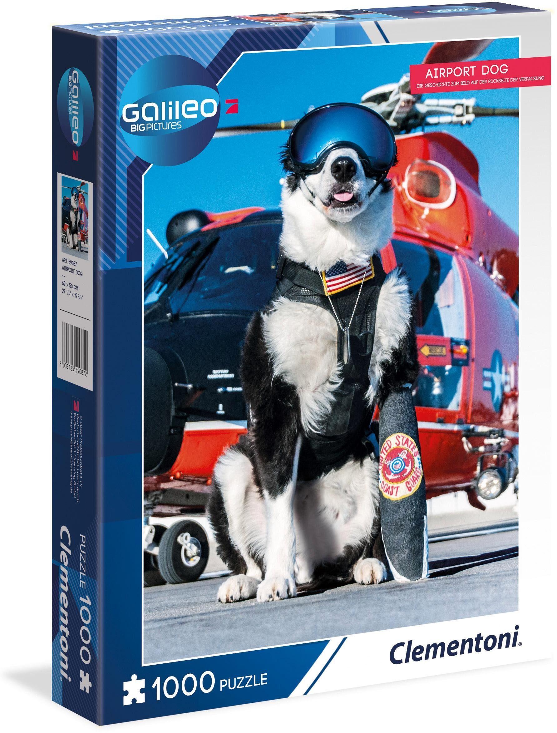 Clementoni Puzzle, 1000 Teile, »Galileo Airport Dog«