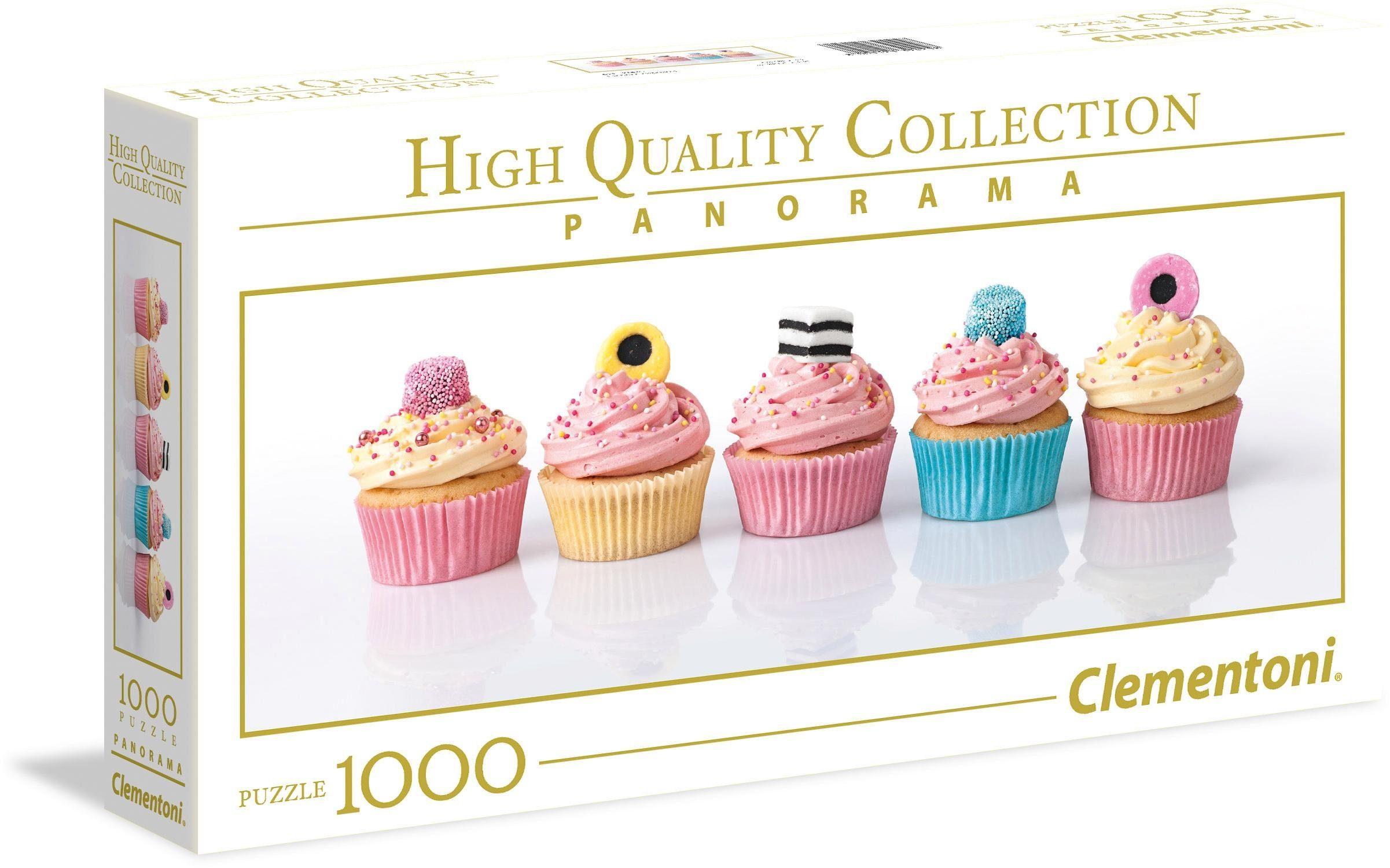 Clementoni Panoramapuzzle, 1000 Teile, »Lakritz Cupcakes«