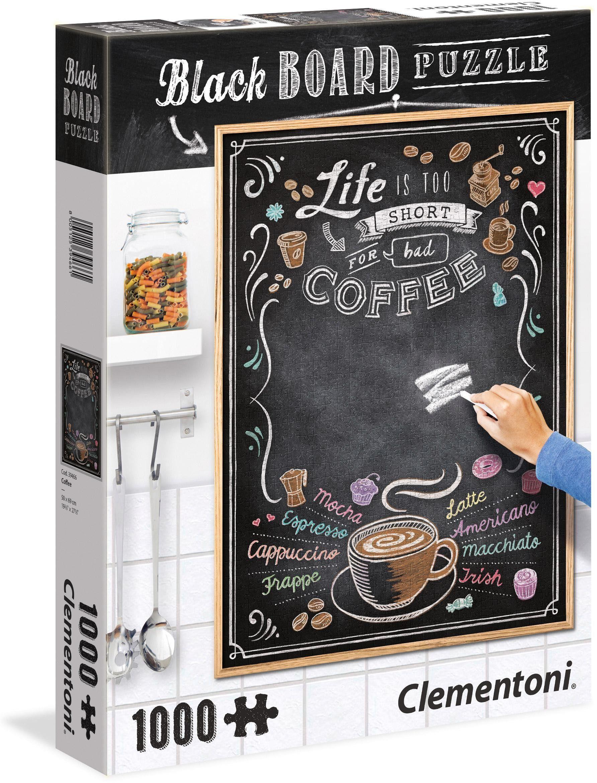 Clementoni Puzzle mit Kreidetafel, 1000 Teile, »Coffee«