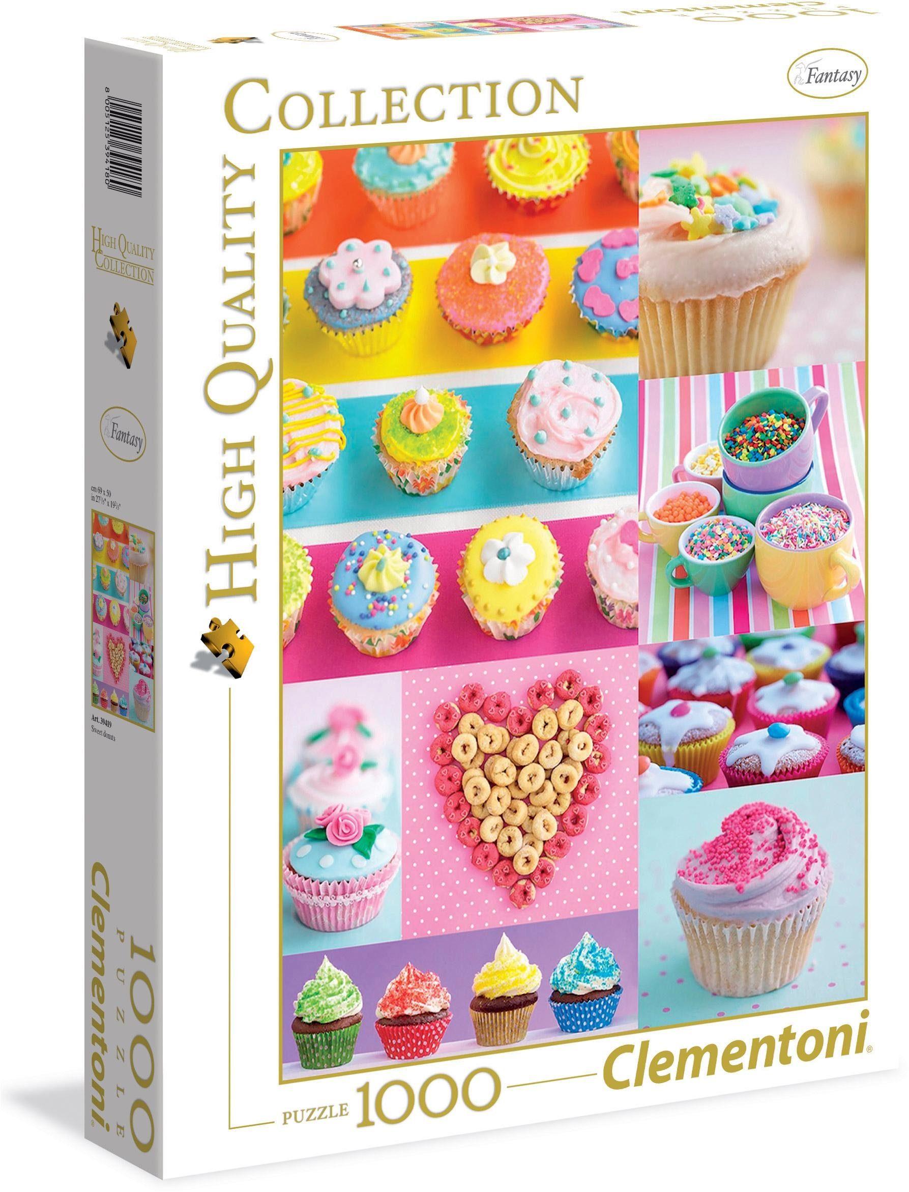 Clementoni Puzzle, 1000 Teile, »Süße Cupcakes«