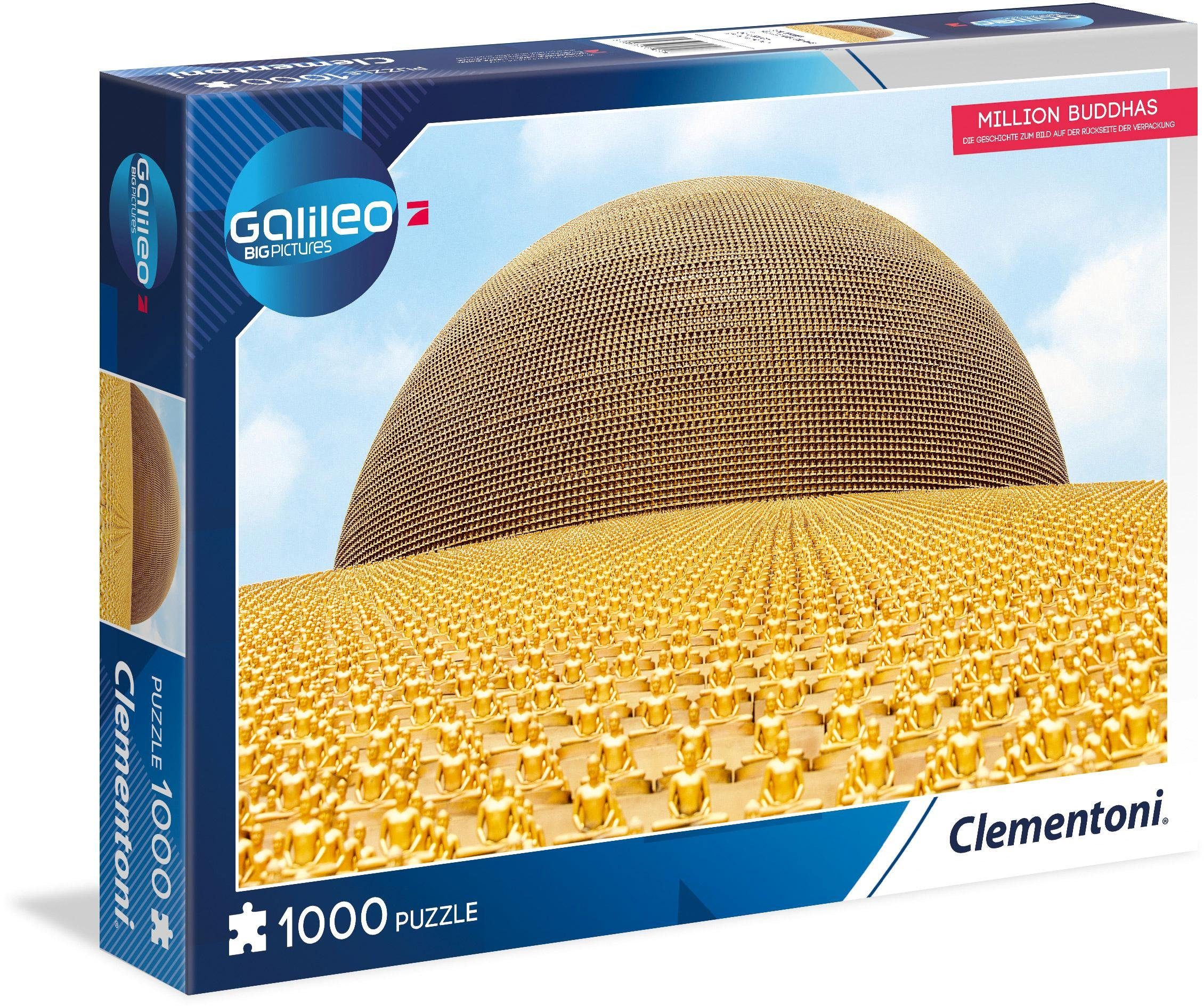 Clementoni Puzzle, 1000 Teile, »Galileo Million Buddhas«