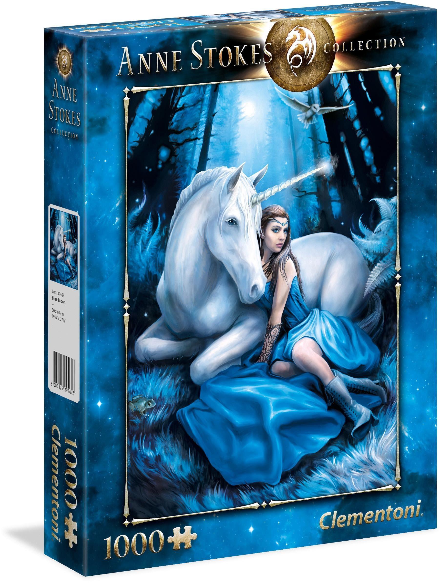 Clementoni Puzzle, 1000 Teile, »Anne Stokes: Blauer Mond«