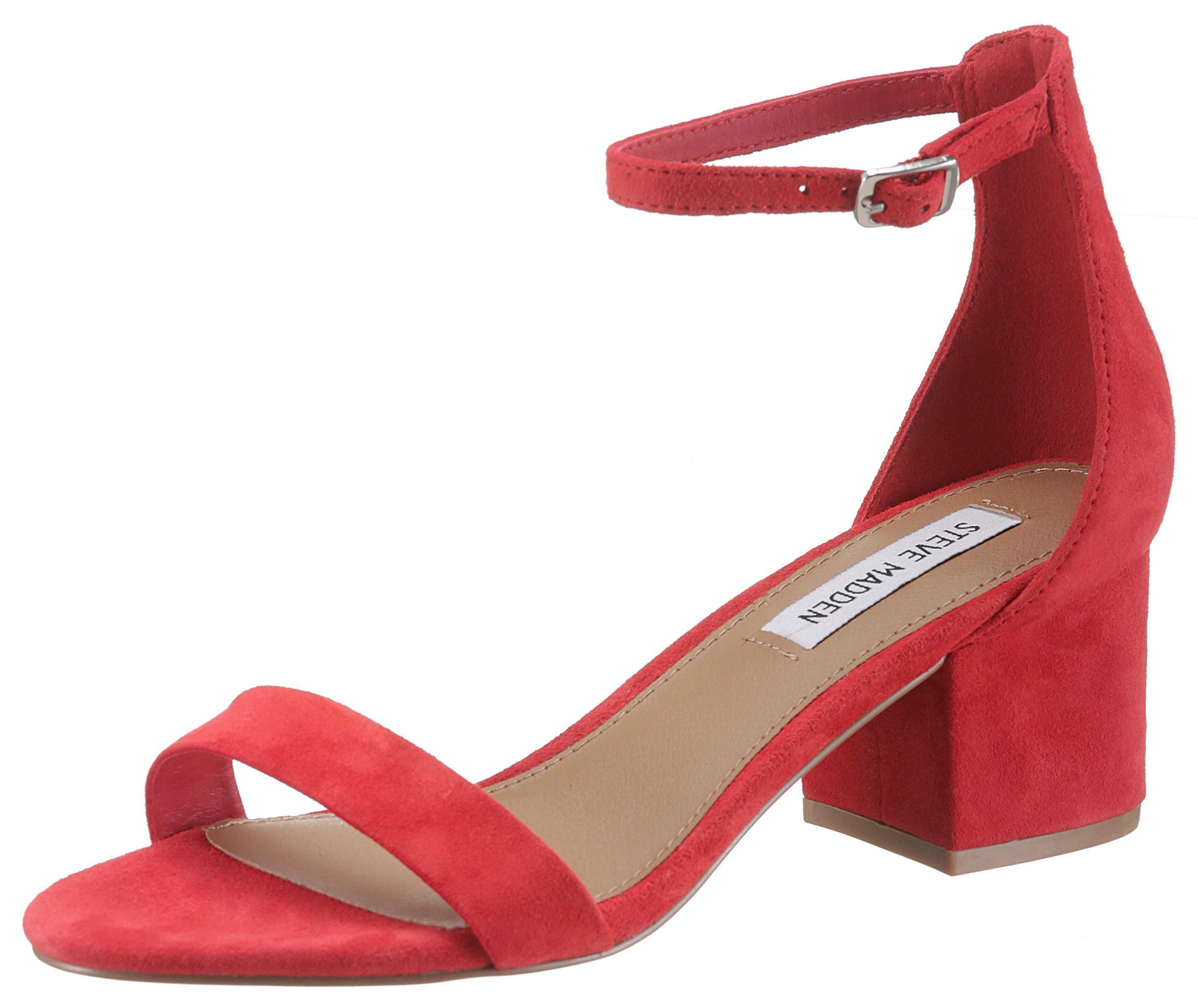 STEVE MADDEN Sandalette, mit Fesselriemchen, rot, rot