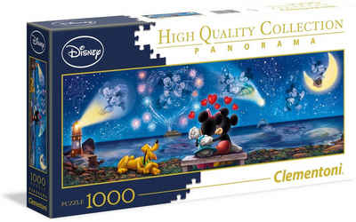 Clementoni® Puzzle »Panorama High Quality Collection - Disney Mickey und Minnie«, 1000 Puzzleteile, Made in Europe
