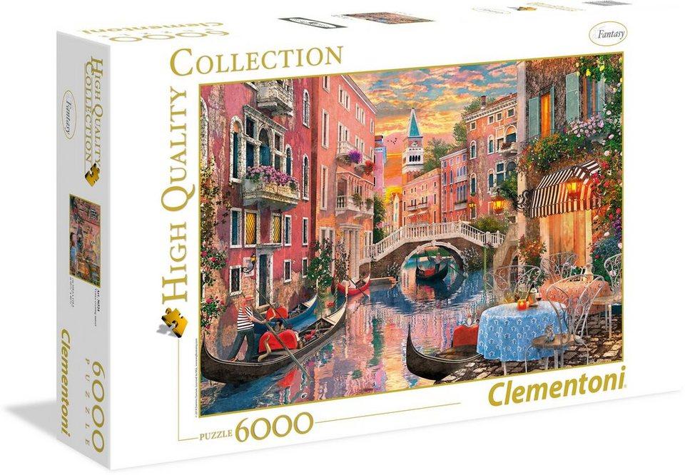 Clementoni Puzzle, Sonnenuntergang 6000 Teile,  Venedig bei Sonnenuntergang Puzzle,  online kaufen 83b642