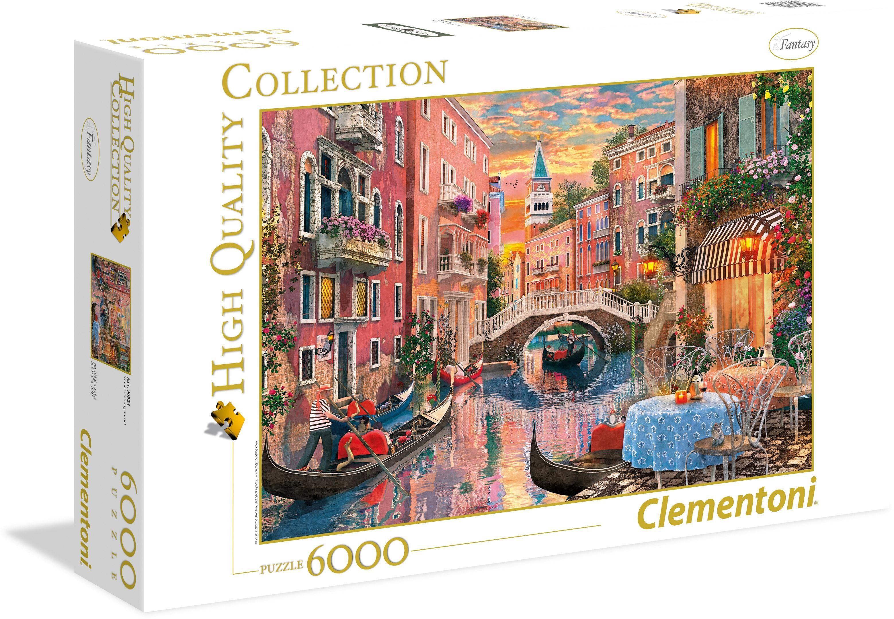 Clementoni® Puzzle »Venedig bei Sonnenuntergang«, 6000 Teilig