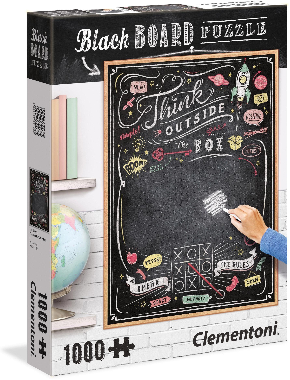 Clementoni Puzzle mit Kreidetafel, 1000 Teile, »Think«