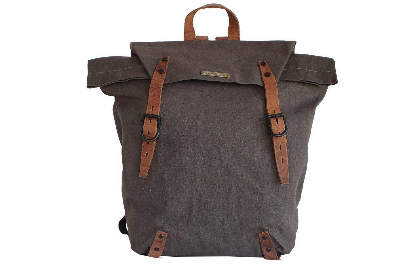 Margelisch Cityrucksack »Gorsch 1«, in auffälligem Vintage-Look | Taschen > Rucksäcke | Grün | Baumwolle - Metall | Margelisch