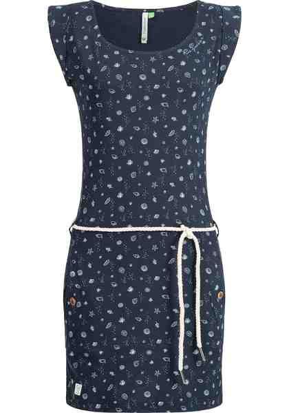Ragwear Sommerkleid »Tag B Organic«, leichtes Baumwoll Kleid mit maritimem Muschel-Print