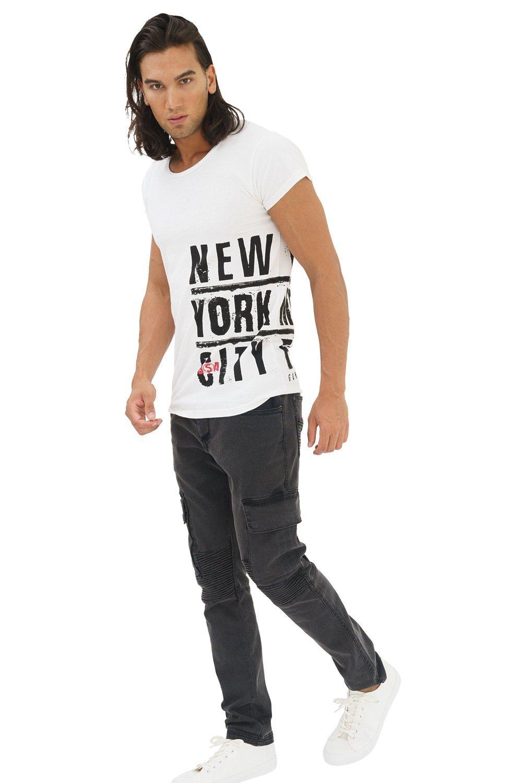 Herren trueprodigy T-Shirt New York City weiß   04057124048704