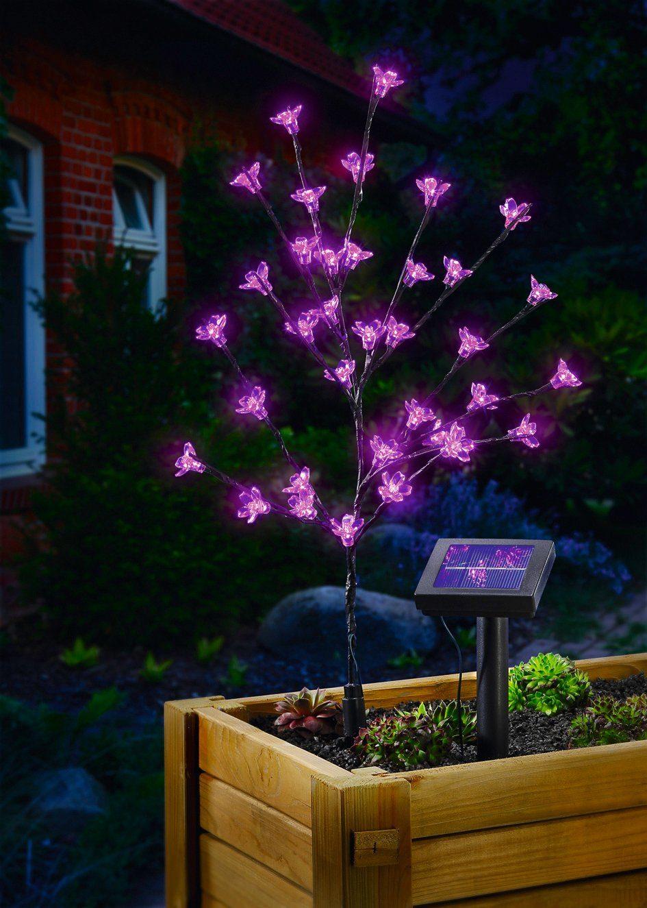 ESOTEC Solarleuchte »Blütenstrauch«, 60 cm Höhe