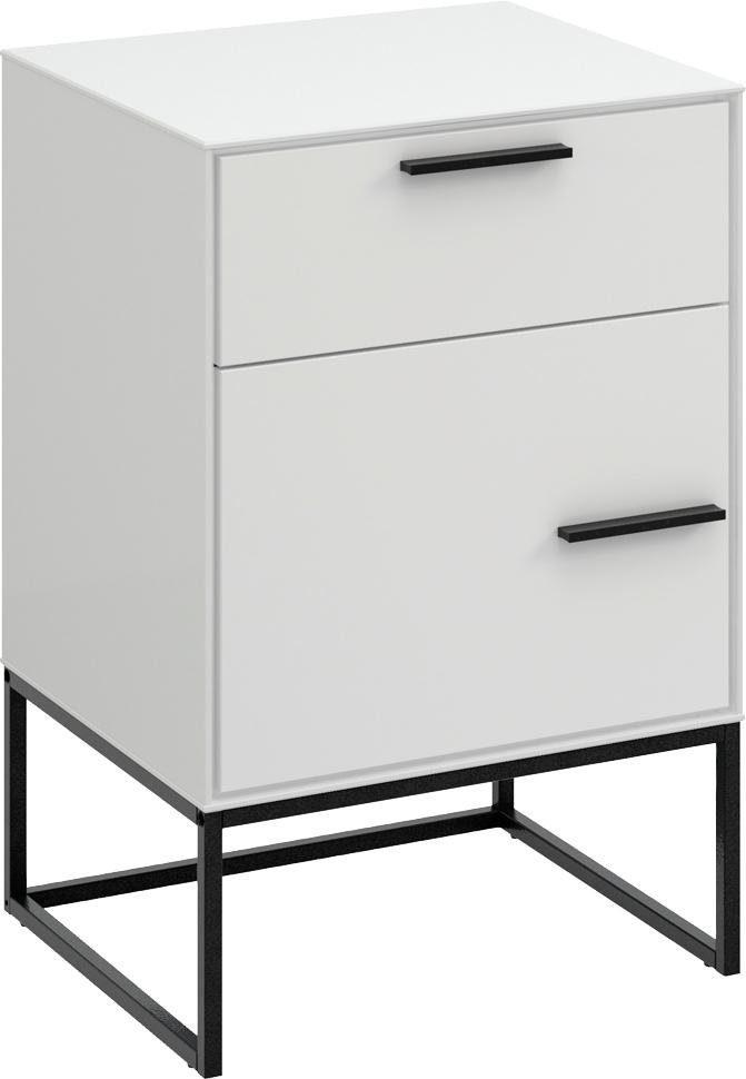 Home affaire Nachttisch »Slimline« mit Schublade und Tür, Breite 47 cm