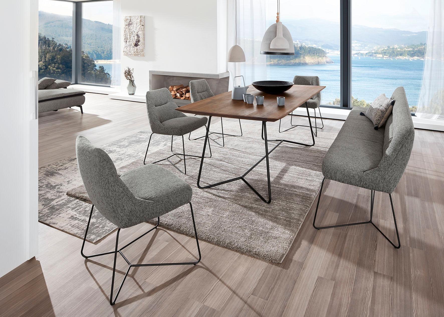 ADA premium Polsterstuhl »Portland« mit schmalem Metallgestell | Küche und Esszimmer > Stühle und Hocker > Polsterstühle | Leder | ADA premium