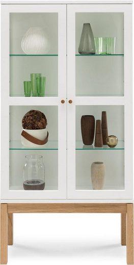 Woodman Vitrine »Bosse«, mit zwei Glastüren und Holzgriffen, Breite 174 cm