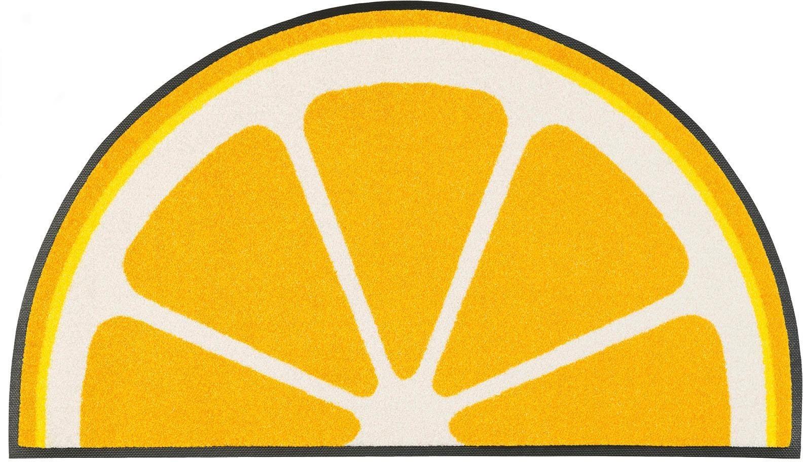 Fußmatte »Lemon«, wash+dry by Kleen-Tex, rechteckig, Höhe 7 mm, Halbmond | Heimtextilien > Fussmatten | wash+dry by Kleen-Tex