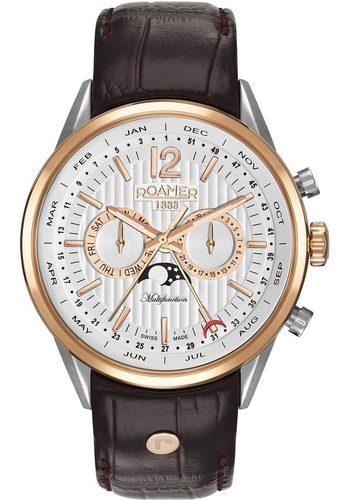Herren Roamer Schweizer Uhr Superior Business Multifunction, 508822 49 14 05 braun | 07630026402989