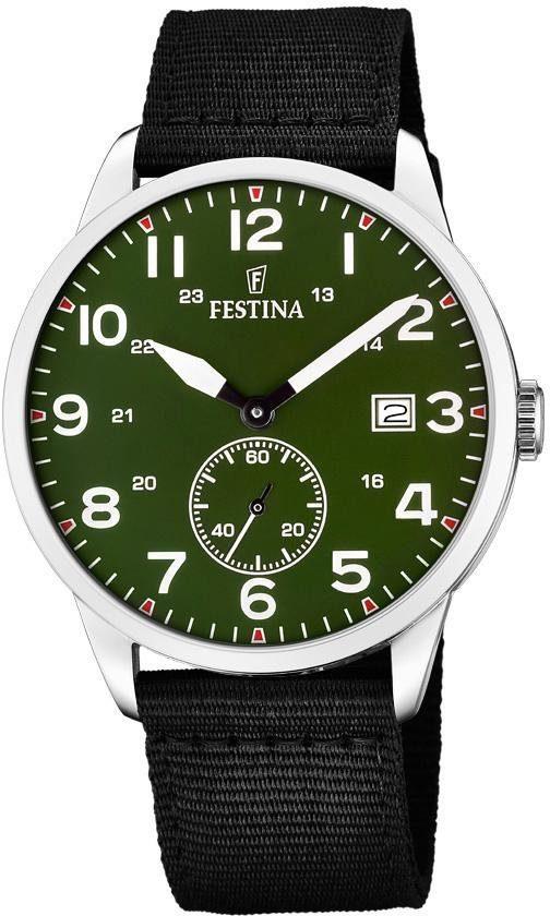 Festina Quarzuhr »F20347/2« (Set, 2 tlg., mit 1 Wechselband) mit dezentraler Sekunde