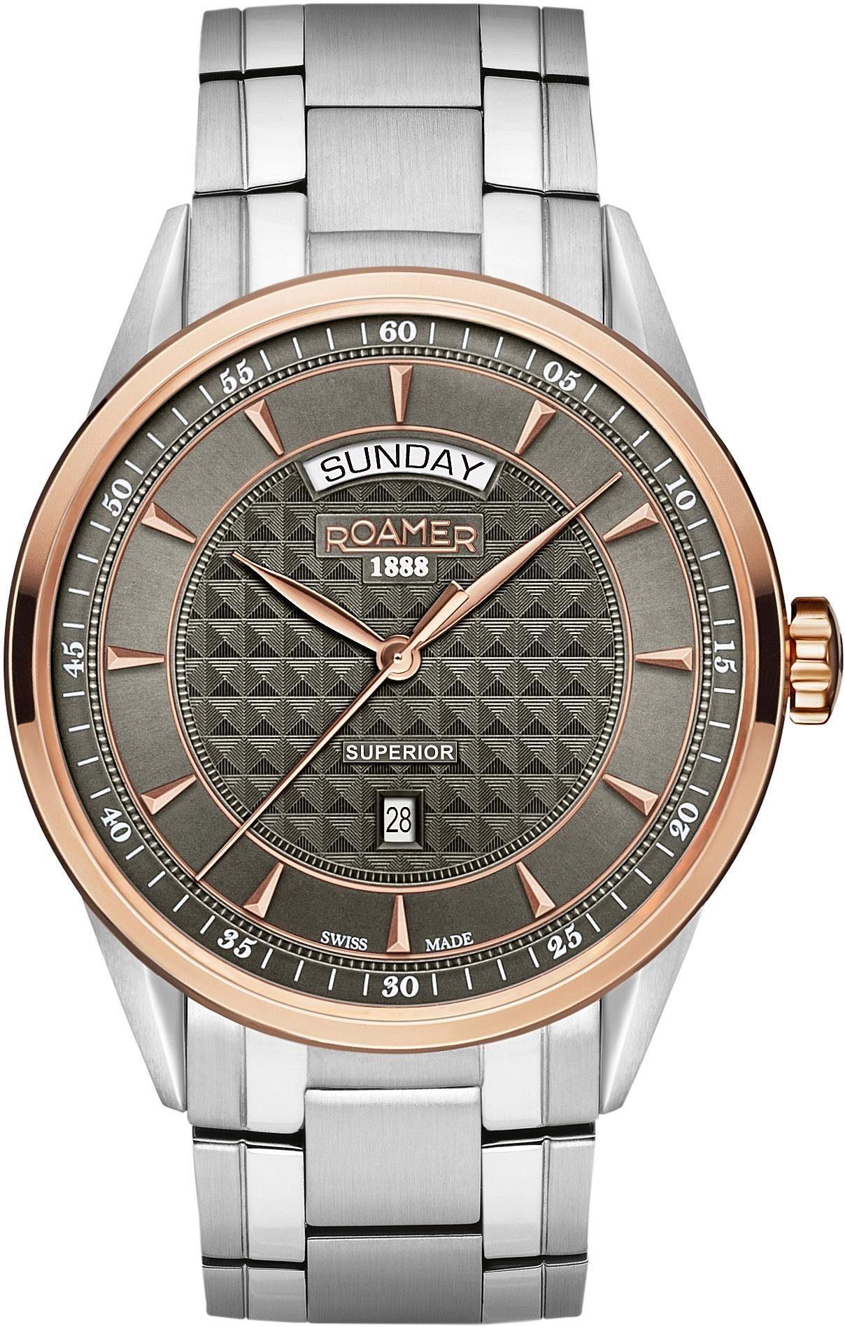 Roamer Schweizer Uhr »Superior Day Date, 508293 49 05 50«