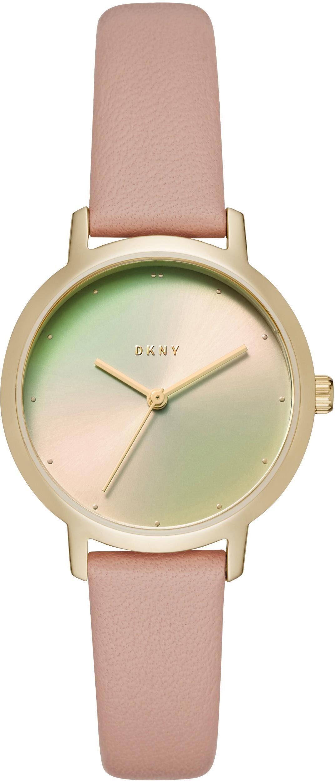 DKNY Quarzuhr »THE MODERNIST, NY2739« mit irisierendem Mineralglas
