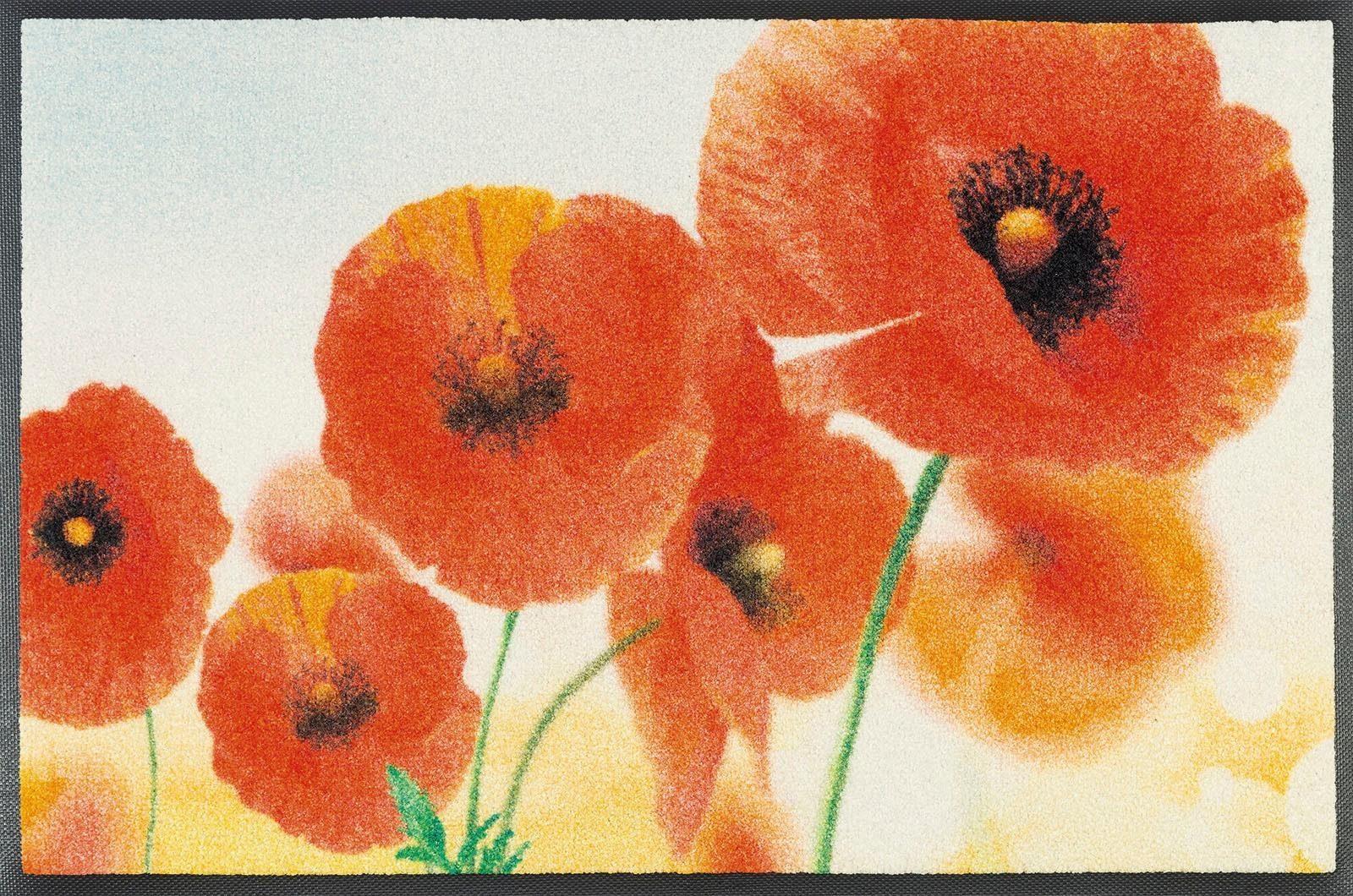 Fußmatte »Sunny Poppy«, wash+dry by Kleen-Tex, rechteckig, Höhe 7 mm