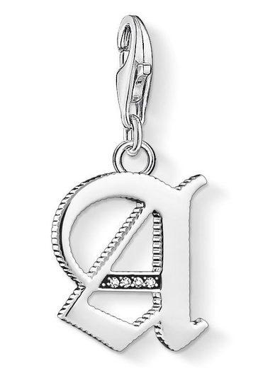 THOMAS SABO Charm-Einhänger »Buchstabe A-Z, 1581-1606-643-21«, mit Zirkonia