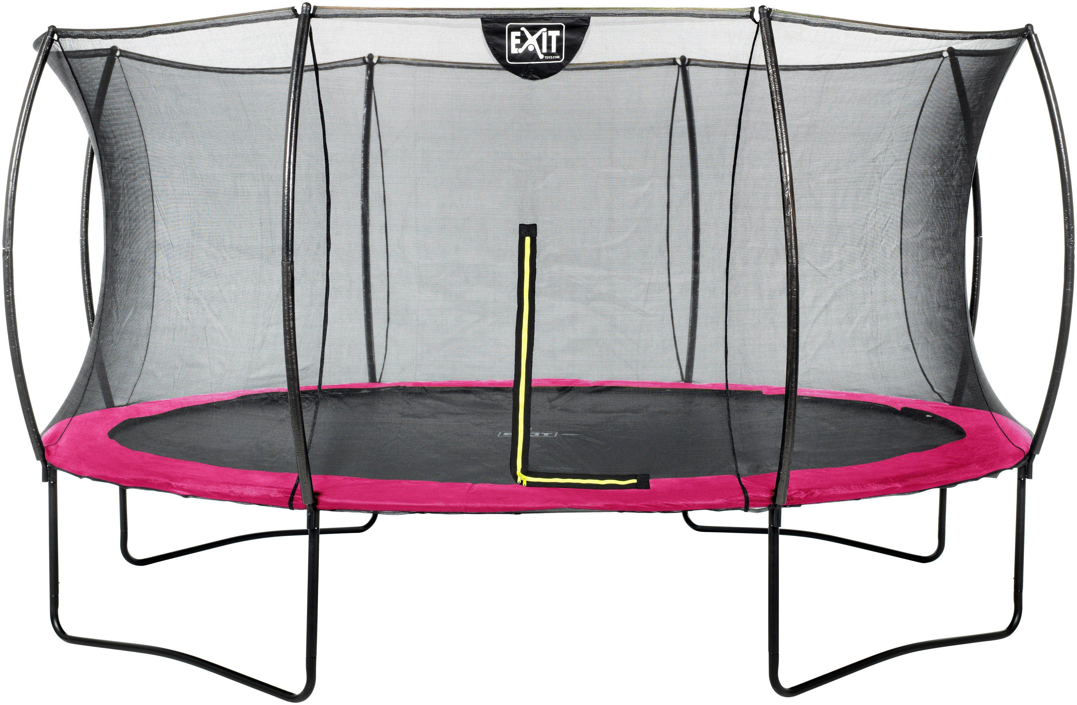 EXIT Trampolin »Silhouette«, Ø 427 cm, mit Sicherheitsnetz rosa