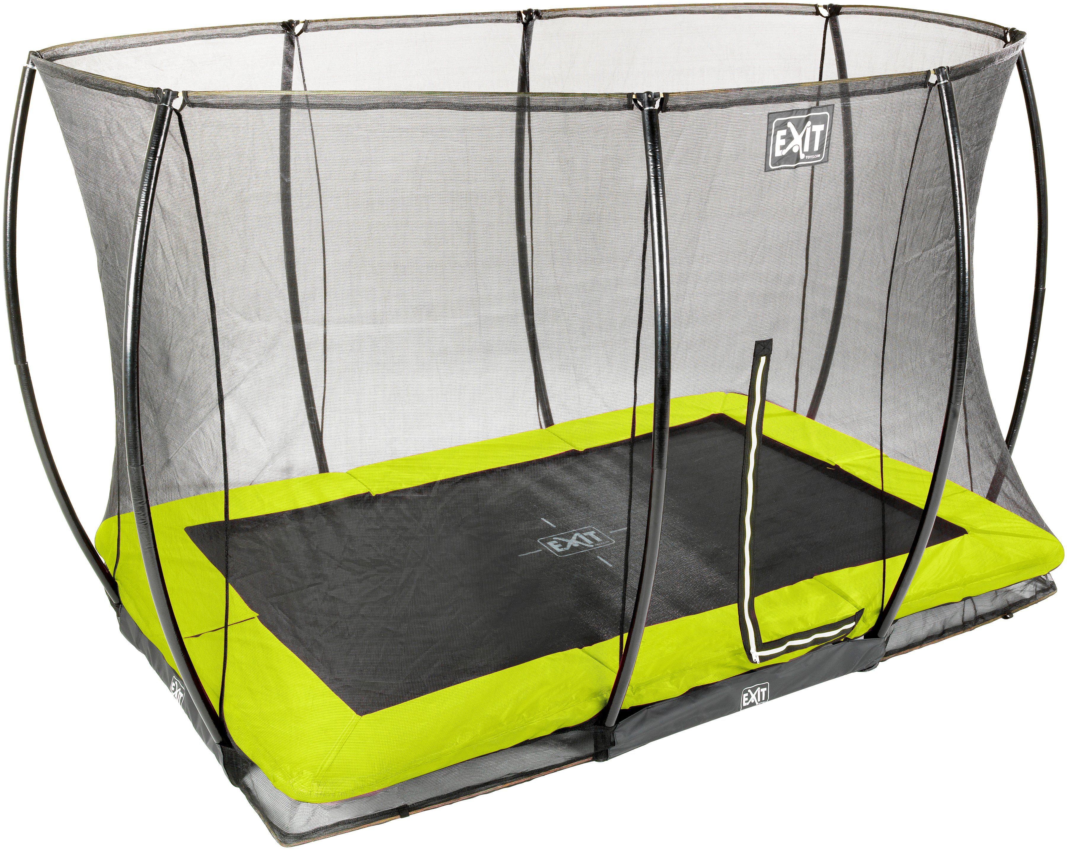 EXIT Trampolin »Silhouette Ground«, BxT: 214x305 cm, mit Sicherheitsnetz Lime grün