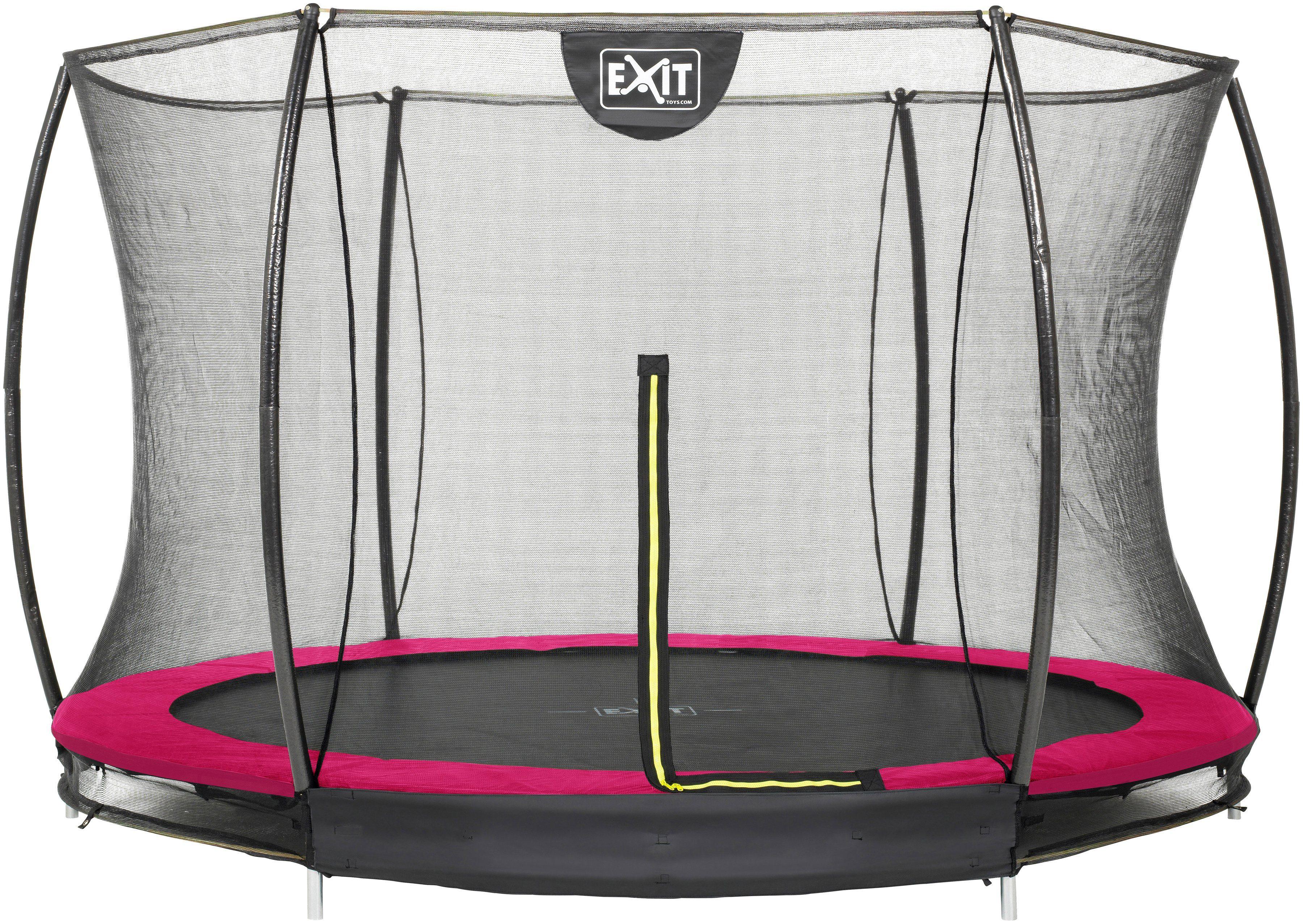EXIT Trampolin »Silhouette Ground«, Ø 305 cm, mit Sicherheitsnetz rosa