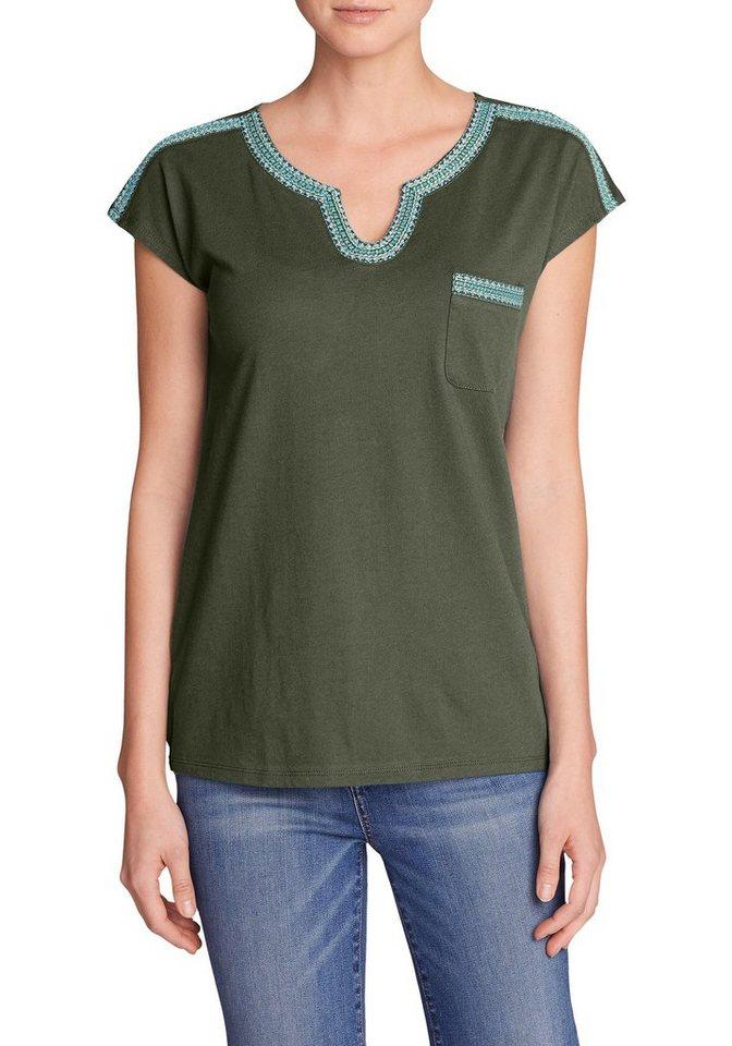 Damen Eddie Bauer  T-Shirt Rosario Beach T-Shirt mit Tasche grün | 04057682281926