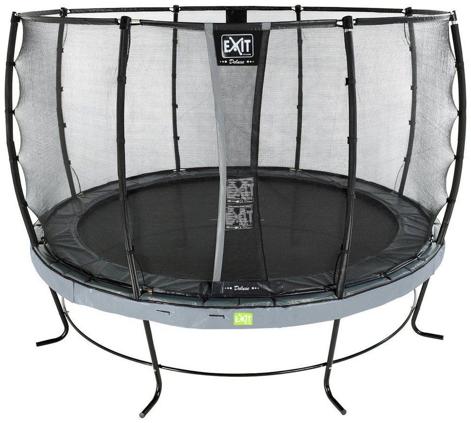 exit trampolin elegant 427 cm mit sicherheitsnetz deluxe grau online kaufen otto. Black Bedroom Furniture Sets. Home Design Ideas