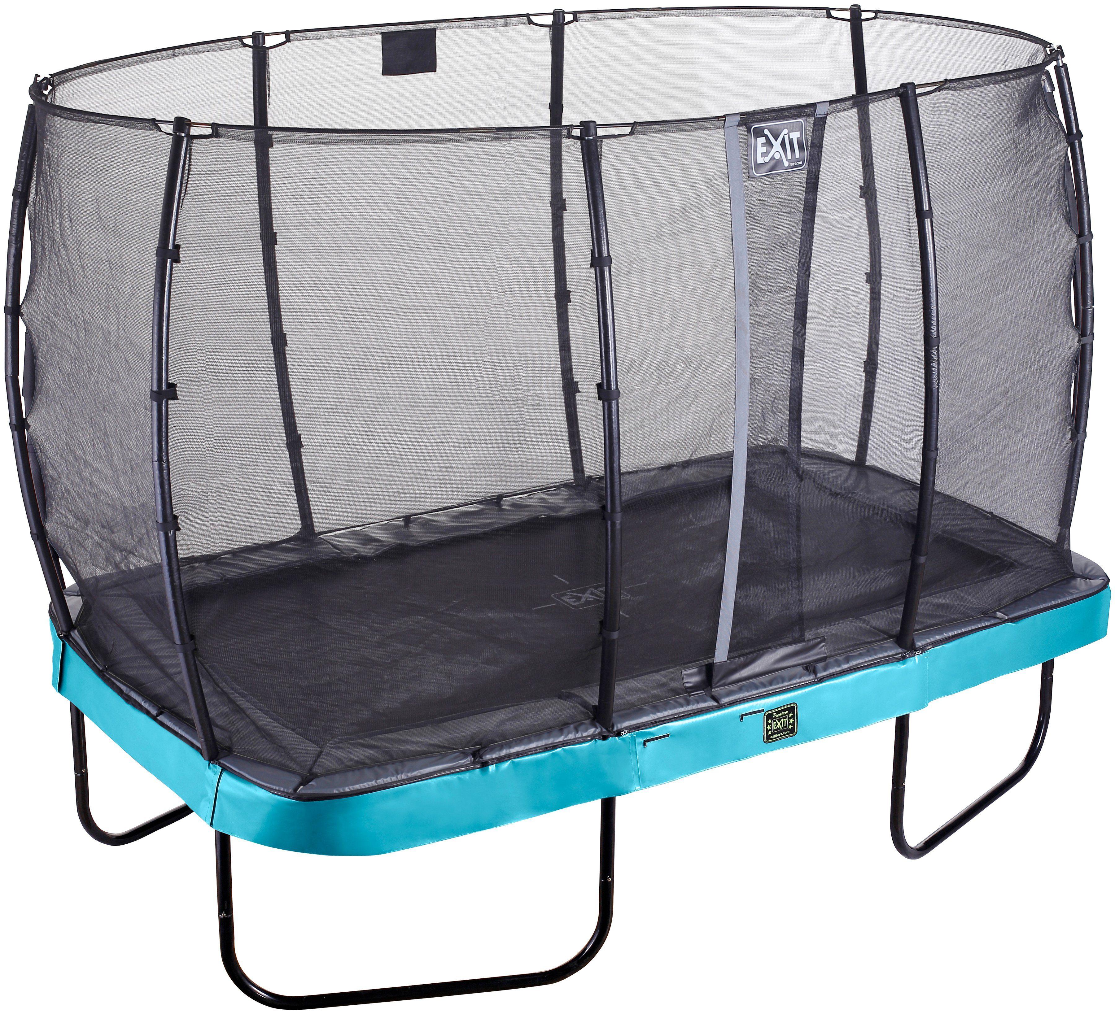 EXIT Trampolin »Elegant Premium«, BxT: 214x366 cm, mit Sicherheitsnetz Economy blau