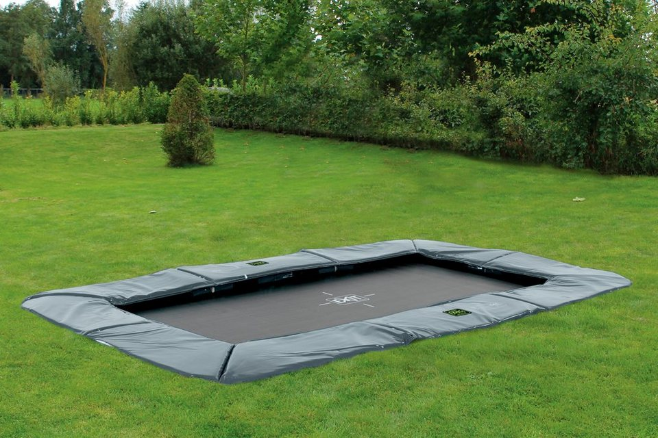 exit trampolin supreme ground level bxt 214x366 cm grau online kaufen otto. Black Bedroom Furniture Sets. Home Design Ideas