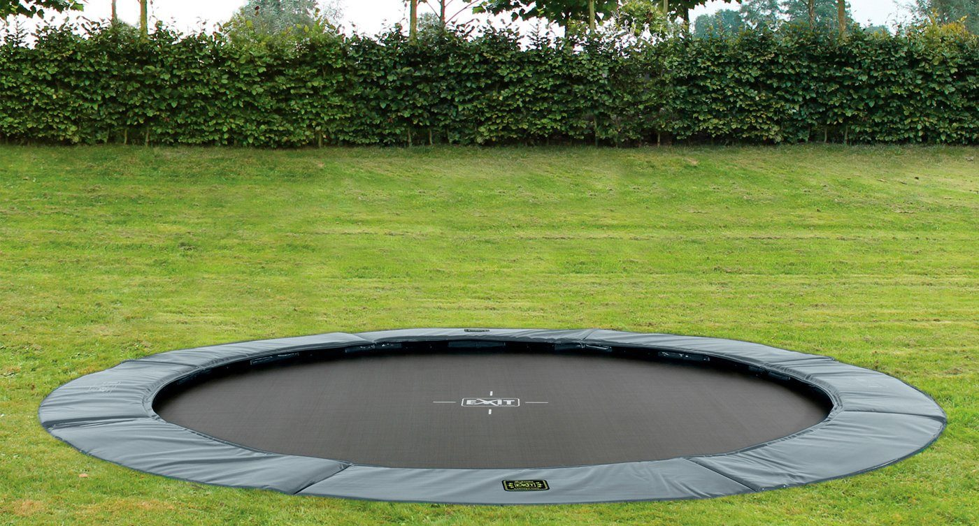 EXIT Trampolin »Supreme Ground«, Ø 305 cm, grau
