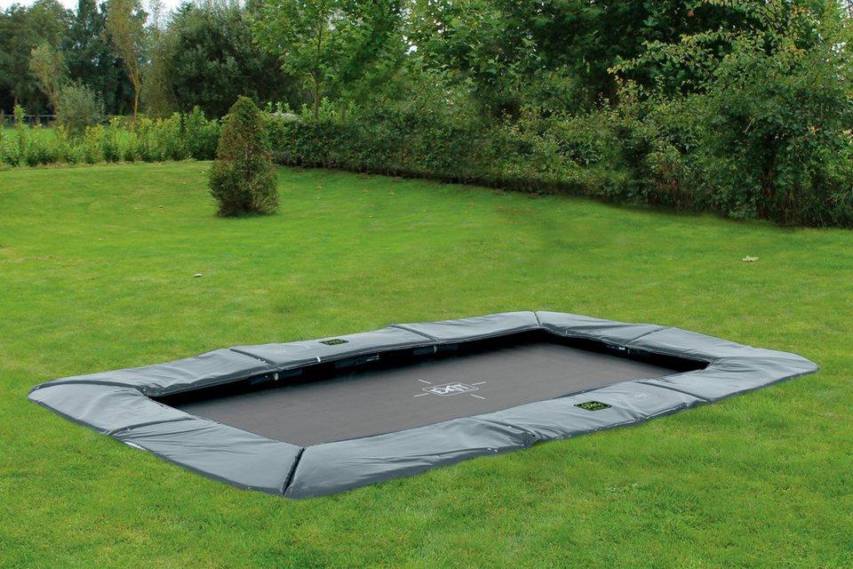 exit trampolin supreme ground level bxt 244x427 cm. Black Bedroom Furniture Sets. Home Design Ideas