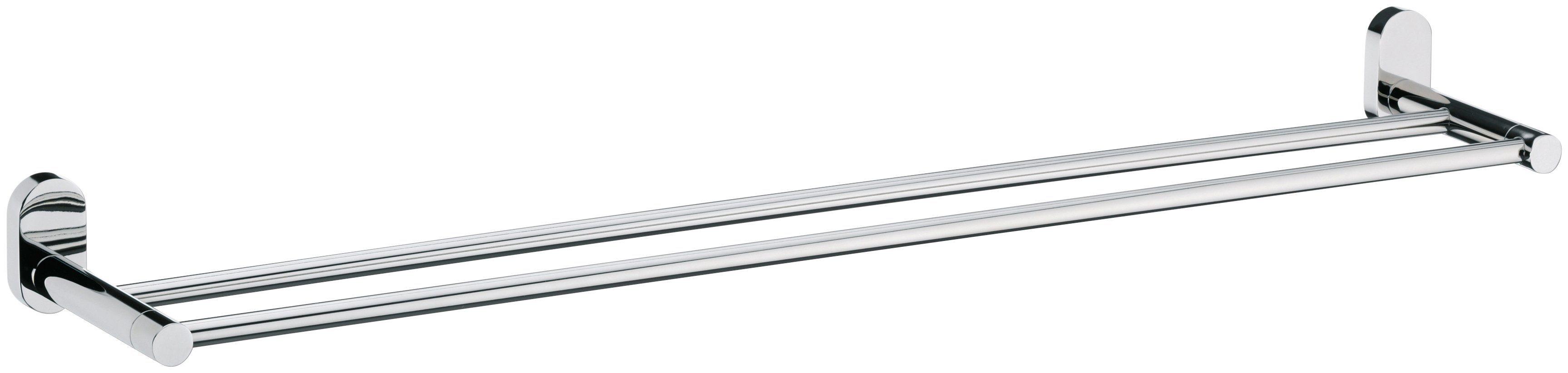 KELA Doppelhandtuchhalter »Lucido«, Edelstahl 18/10 glänzend, 75,5 x 12,5 x 6 cm