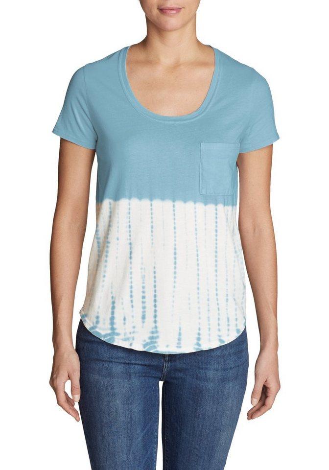 Damen Eddie Bauer  T-Shirt Gypsum T-Shirt mit Tasche – Tie-Dye blau | 04057682285047